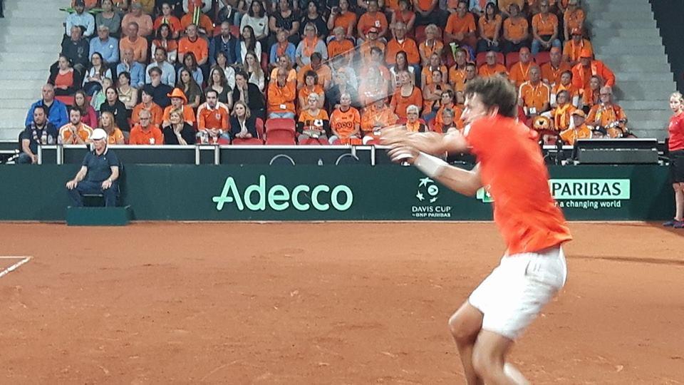 Winst Nederlands team bij Davis Cup