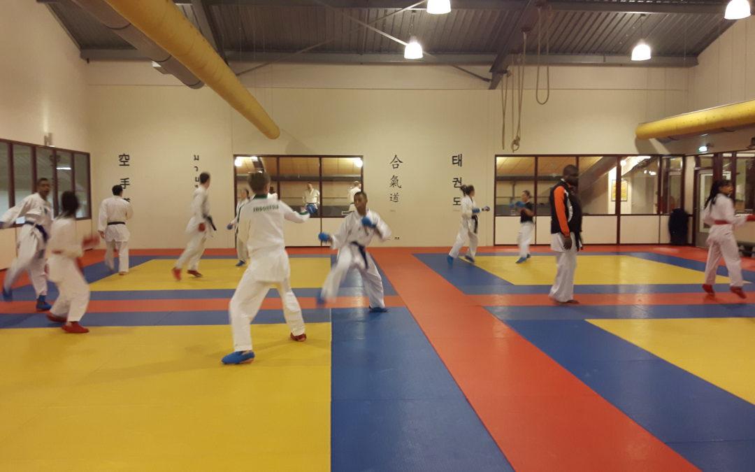 Mentale training voor de EK ploeg karate